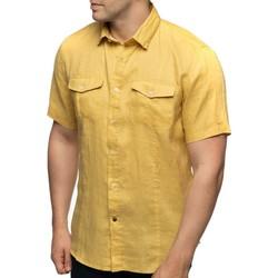 Vêtements Homme Chemises manches courtes Shilton Chemise en lin manches courtes POCKET Jaune