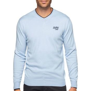 Vêtements Homme Pulls Shilton Pull col V coton laine Bleu ciel