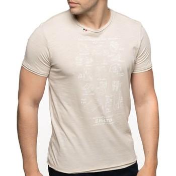 Vêtements Homme T-shirts manches courtes Shilton T-shirt rugby manches courtes EQUIPEMENTS Beige