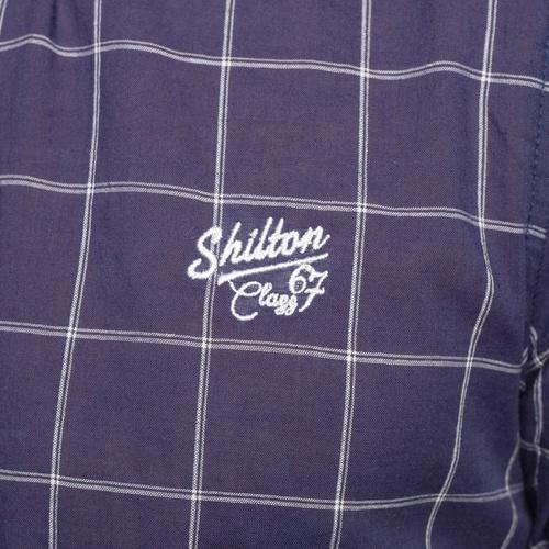 Shilton Chemise carreaux flag Bleu marine 18051896 Chemises Homme