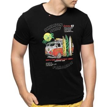 Vêtements Homme T-shirts manches courtes Shilton T-shirt surf paradise Noir