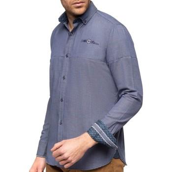 Vêtements Homme Chemises manches longues Shilton Chemise aspect nid d'abeille COQ Bleu marine