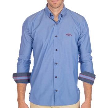 Vêtements Homme Chemises manches longues Shilton Chemise Rugby Rules Bleu ciel