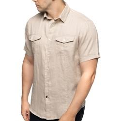 Vêtements Homme Chemises manches courtes Shilton Chemise en lin manches courtes POCKET Beige