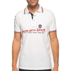 Vêtements Homme Polos manches courtes Shilton Polo rugby britain manches courtes Blanc
