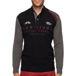 Vêtements Homme Pulls Shilton Pull rugby col montant FLAG Noir