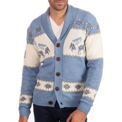 Vêtements Homme Gilets / Cardigans Shilton Cardigan montagne 100% laine Bleu indigo
