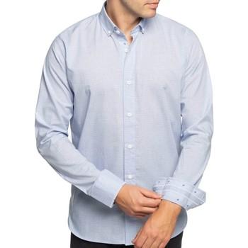 Vêtements Homme Chemises manches longues Shilton Chemise petits motifs manches longues Bleu ciel