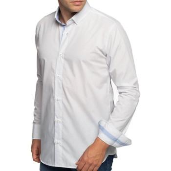Vêtements Homme Chemises manches longues Shilton Chemise à pois manches longues Bleu ciel