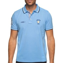 Vêtements Homme Polos manches courtes Shilton Polo rugby Argentine manches courtes Bleu ciel