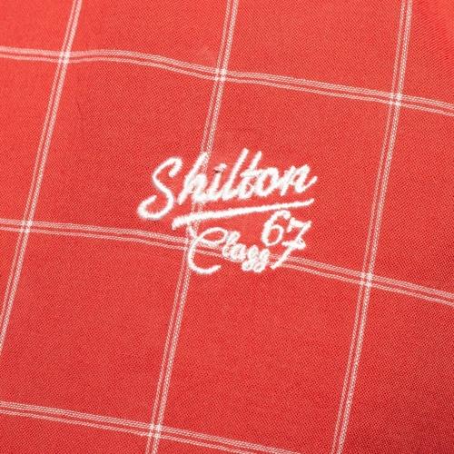 Grosses Soldes Vetements djfs584dDL3L5 Shilton Chemise carreaux flag Rouge