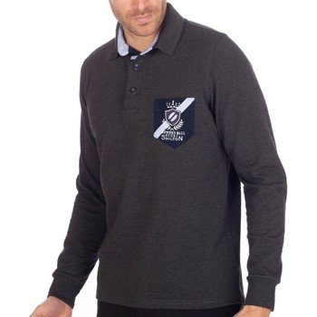 Vêtements Homme Polos manches longues Shilton Polo Rugby Golden Ball Gris