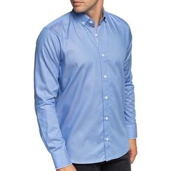 Vêtements Homme Chemises manches longues Shilton Chemise unie manches longues Bleu ciel