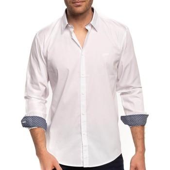 Vêtements Homme Chemises manches longues Shilton Chemise épurée Blanc
