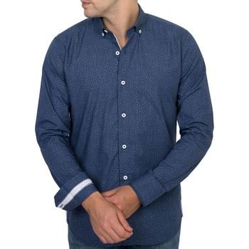 Vêtements Homme Chemises manches longues Shilton Chemise imprimée originale manches longues Bleu indigo
