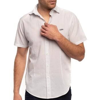 Vêtements Homme Chemises manches courtes Shilton Chemise à pois imprimés Blanc