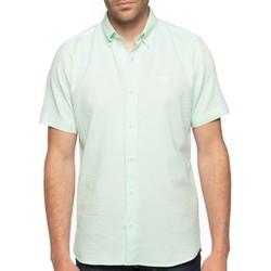 Vêtements Homme Chemises manches courtes Shilton Chemise tissu gaufré Vert