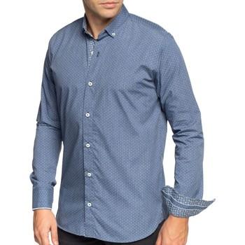 Vêtements Homme Chemises manches longues Shilton Chemise motifs imprimés manches longues Bleu indigo