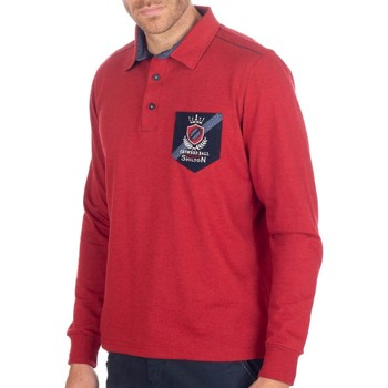 Vêtements Homme Polos manches longues Shilton Polo Rugby Golden Ball Rouge