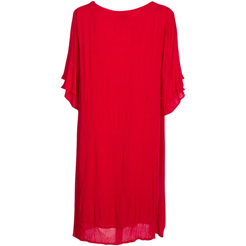 Coline Robe courte larges manches Rouge 18056129
