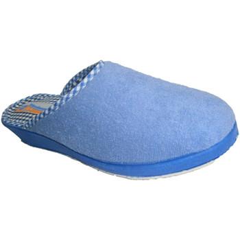 Chaussures Femme Chaussons Made In Spain 1940 Tongs serviette lisse fermé à la pointe azul
