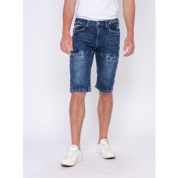Vêtements Shorts / Bermudas Ritchie Pantacourt en jean BOBUN Bleu