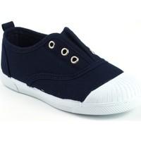 Chaussures Fille Baskets basses Vulca Bicha Toile enfant  625 bleu Bleu