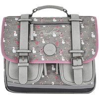 Sacs Fille Cartables Cameleon Cartable fille   VINTAGE PRINT GIRL 709-VIG-CA35 GREY LAMA