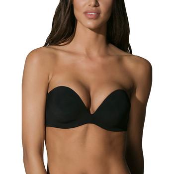 Sous-vêtements Femme Bandeaux & bretelles amovibles Luna Soutien-gorge bandeau Secret Sense bonnets E à F Noir