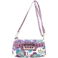 Sacs Femme Sacs Bandoulière Fuchsia Mini sac pochette  toile motif fleurs Violet violet
