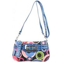 Sacs Femme Sacs Bandoulière Fuchsia Mini sac pochette  toile motif rond multicolore Bleu bleu