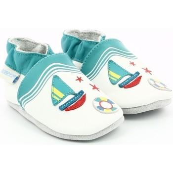 Chaussures Garçon Chaussons bébés Robeez LIFEGUARD Blanc