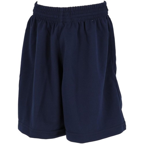 Vêtements Garçon Shorts / Bermudas Tremblay Poly navy uni short foot jr Bleu marine / bleu nuit