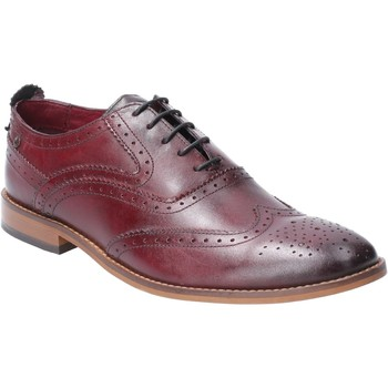 Chaussures Homme Derbies Base London TC04538-40 Focus Washed Bordo