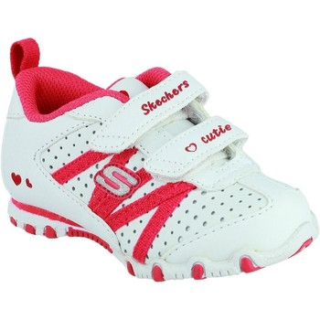 Chaussures Fille Baskets basses Skechers SK82688N Bikers Main Squeeze Blanc et Rouge