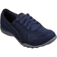 Chaussures Femme Baskets basses Skechers SK23845-NVY-3 Breathe-Easy-Weekend Wishes Marine et Charbon