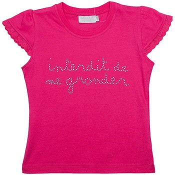 Vêtements Fille T-shirts manches courtes Interdit De Me Gronder STRASSITA Rose fuschia