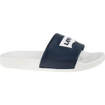 Chaussures Homme Claquettes Levi's Batwing Slide Sandal Blanc, Noir