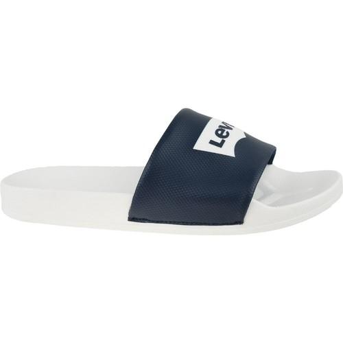 Chaussures Homme Claquettes Levi's Batwing Slide Sandal Blanc,Noir