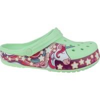 Chaussures Enfant Tongs Crocs Fun Lab Unicorn Band Clog Vert, Rose
