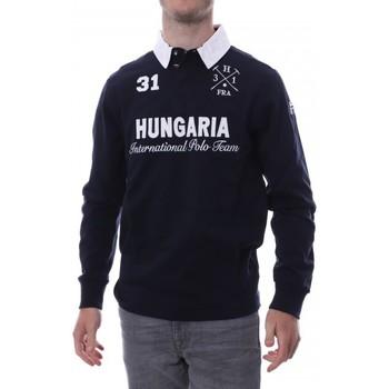 Vêtements Homme Polos manches longues Hungaria H-16TLMOLORE Bleu
