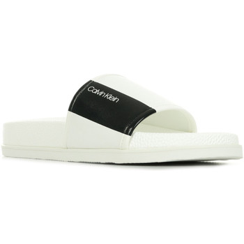 Chaussures Homme Claquettes Calvin Klein Jeans Mackee Nappa blanc
