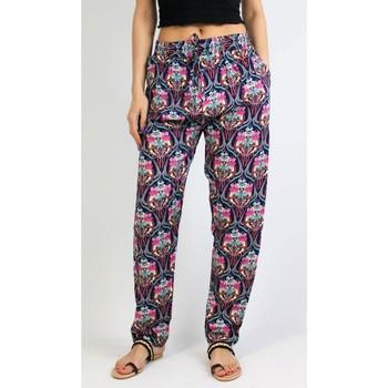 Vêtements Femme Pyjamas / Chemises de nuit Kebello Pantalon imprimé fluide, en coton F Rose Rose