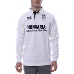 Vêtements Homme Polos manches longues Hungaria H-16TLMOLORE Blanc