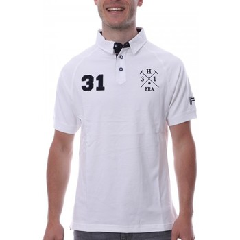 Vêtements Homme Polos manches courtes Hungaria H-16TLMODORE Blanc