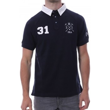 Vêtements Homme Polos manches courtes Hungaria H-16TLMODORE Bleu