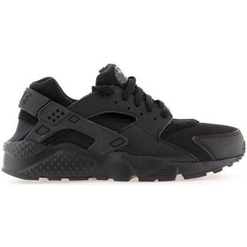 Chaussures Garçon Running / trail Nike Huarache Run GS Noir