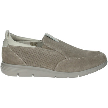 Chaussures Homme Slip ons Impronte SLIP ON CANAL MAN SUEDE Taupe