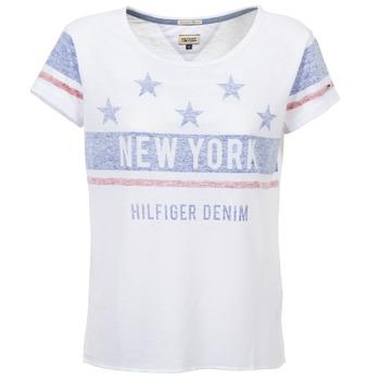 Vêtements Femme T-shirts manches courtes Hilfiger Denim PHIEBY Blanc