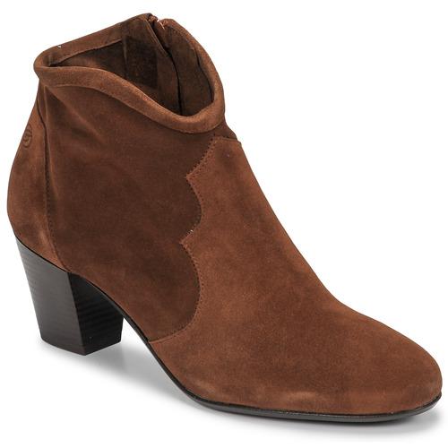 Chaussures Femme Bottines Betty London NORIANE Camel velours